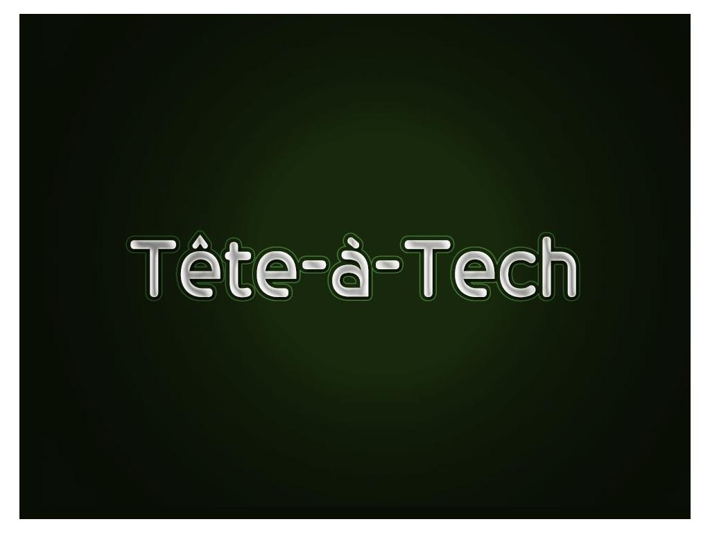 Tete a Tech Title Bumper – Logo Design