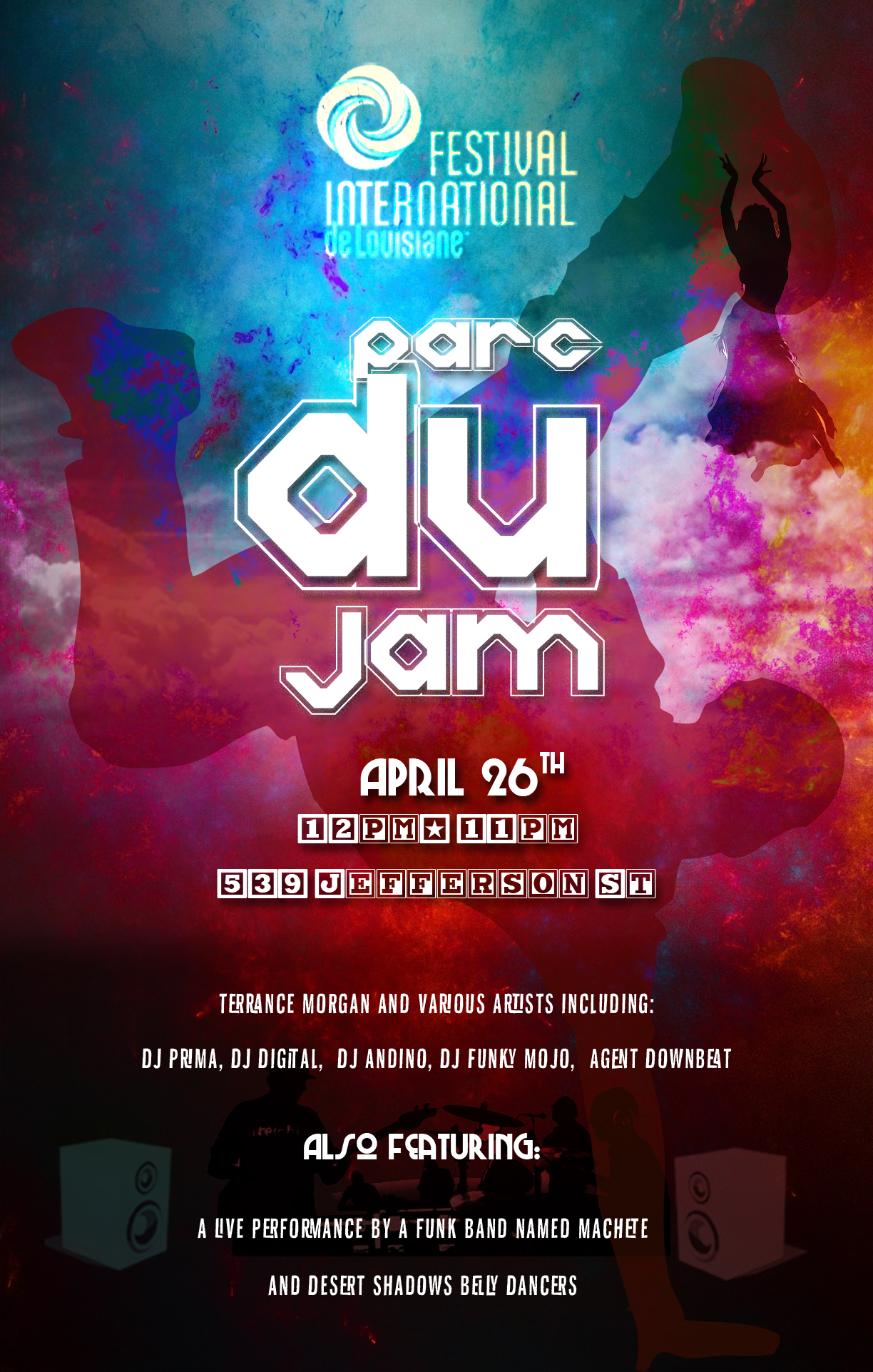 Event Flyer: Parc Du Jam (Festival International De Louisane)